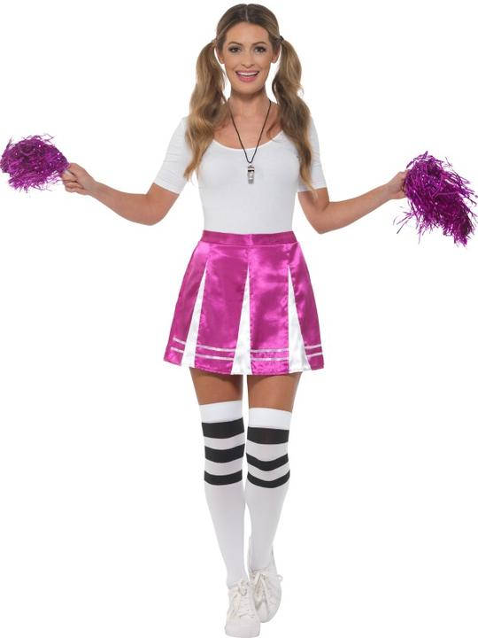 Cheerleader Womens Costume Ladies Fancy dress School Football Outfit party hen Thumbnail 2