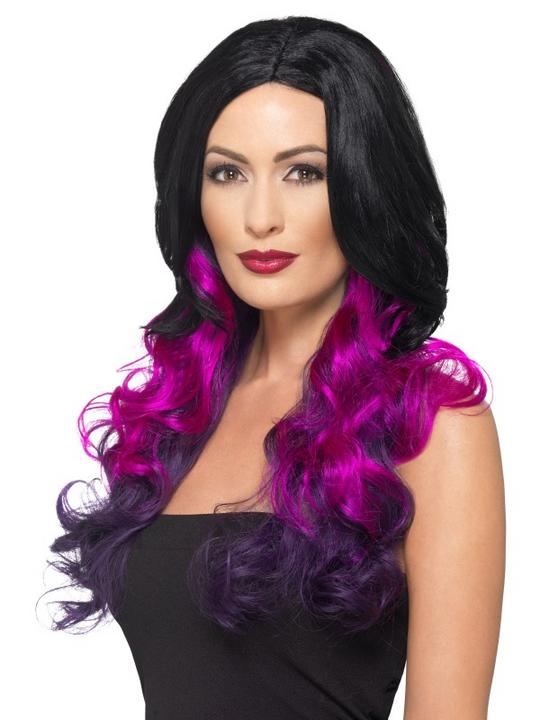 Deluxe Ombre Wig Black And Purple Thumbnail 1