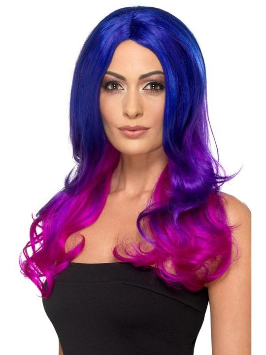 Fashion Ombre Wig Blue and Pink Thumbnail 1