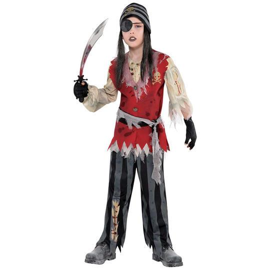 Cutthroat Pirate Corpse Boy's Fancy Dress Costume Thumbnail 1