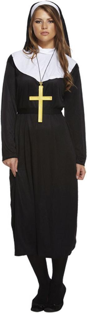 Nun Women's Fancy Dress Costume