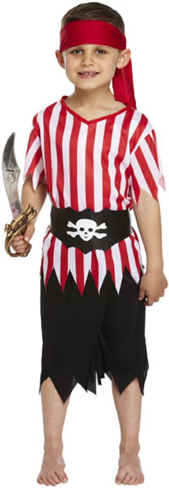 Boys Pirate Buccaneer Costume Kids Fancy Dress Outfit Book Week Party Dressup