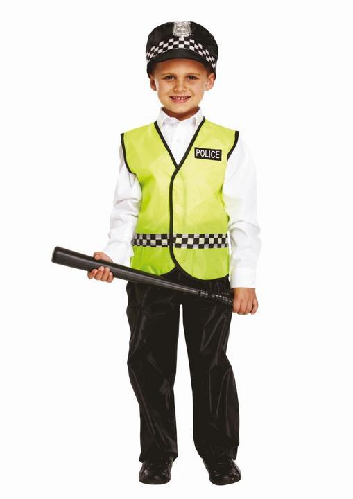 Policeman Boy's Fancy Dress Costume Thumbnail 1