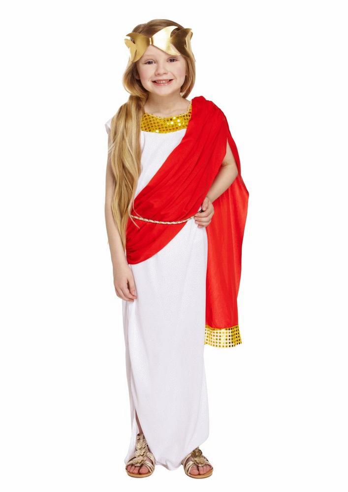 Roman Goddess Girl's Fancy Dress Costume