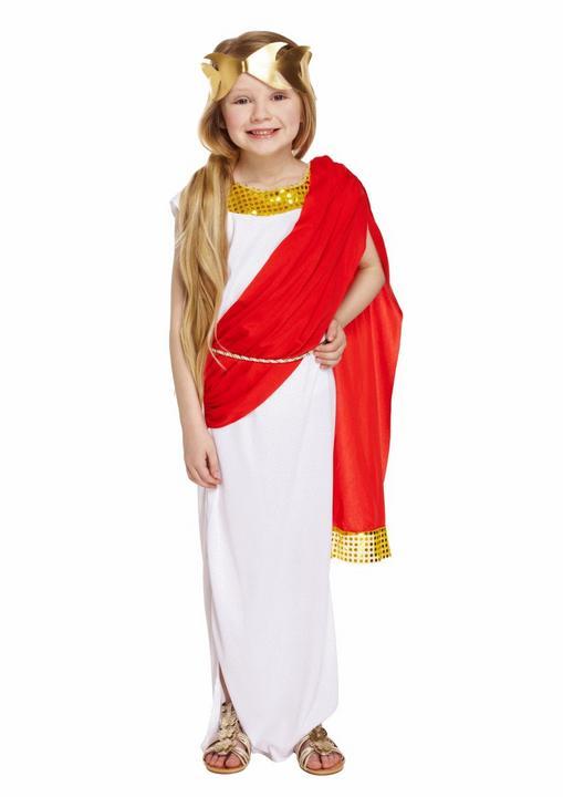 Roman Goddess Girl's Fancy Dress Costume Thumbnail 1