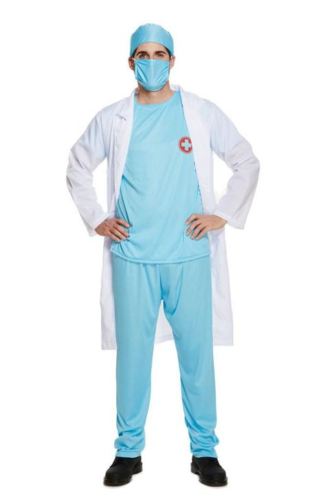 Doctor's Scrub Men's Fancy Dress Costume Thumbnail 1