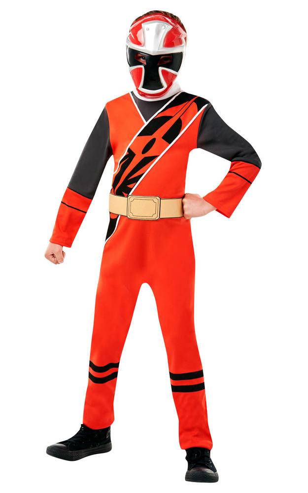 Power Ranger Ninja Steel Red Classic Boy's Fancy Dress Costume
