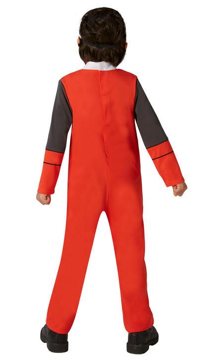 Power Ranger Ninja Steel Red Classic Boy's Fancy Dress Costume Thumbnail 3