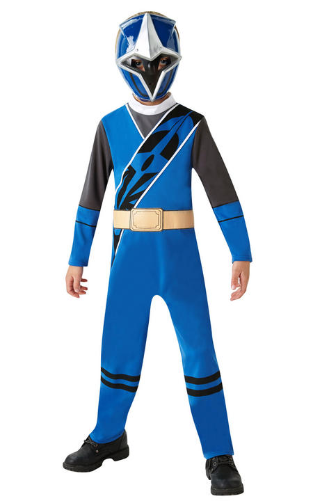 Power Ranger Ninja Steel Blue Classic Boy's Fancy Dress Costume Thumbnail 1