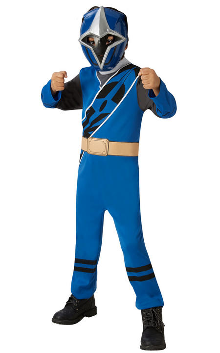 Power Ranger Ninja Steel Blue Classic Boy's Fancy Dress Costume Thumbnail 2