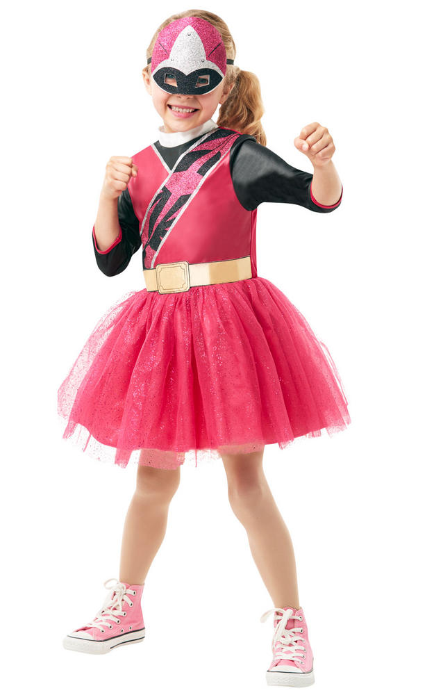 Power Ranger Ninja Steel Pink Girl's Fancy Dress Costume