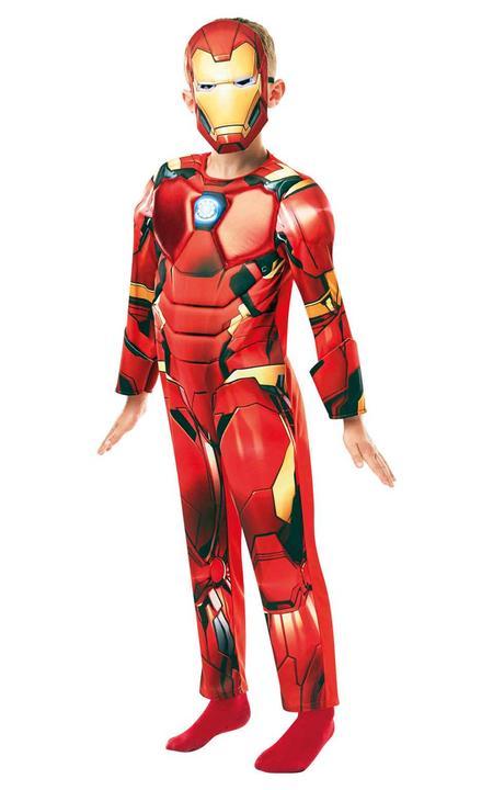 Iron Man Marvel Deluxe Boy's Fancy Dress Costume Thumbnail 1