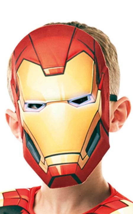 Iron Man Marvel Deluxe Boy's Fancy Dress Costume Thumbnail 2