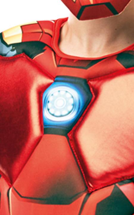 Iron Man Marvel Deluxe Boy's Fancy Dress Costume Thumbnail 4