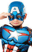 Captain America Deluxe Boy's Fancy Dress Costume