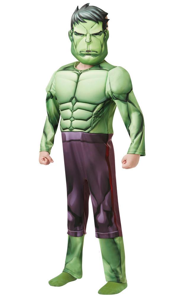 Hulk Deluxe Marvel Boy's Fancy Dress Costume