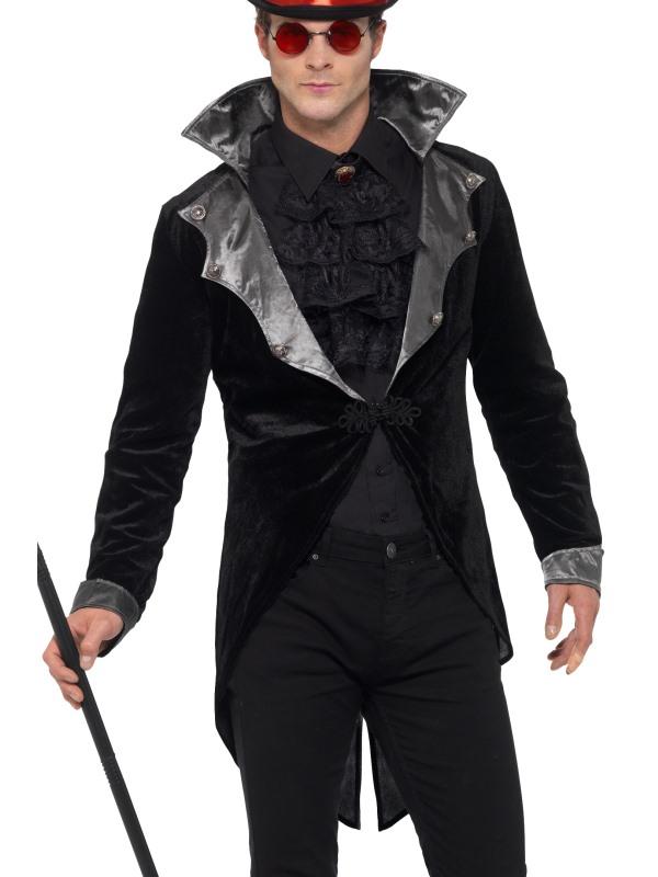 Gothic Vampire Jacket Men's Fancy Dress