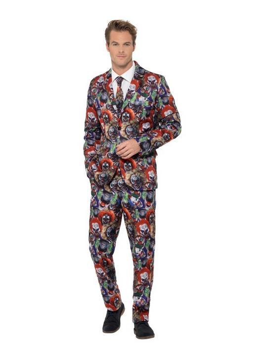 Evil Clown Suit Men's Fancy Dress Costume Thumbnail 2