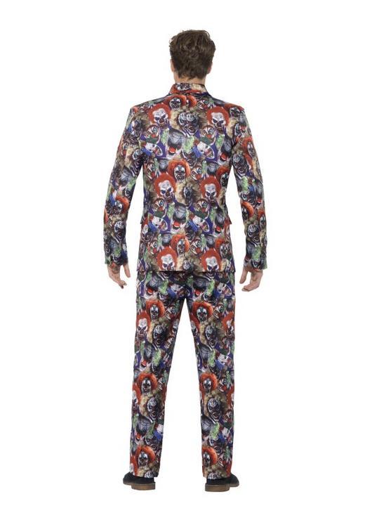 Evil Clown Suit Men's Fancy Dress Costume Thumbnail 3