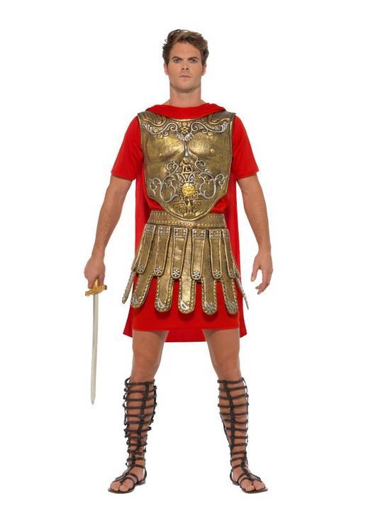 Roman Gladiator Men's Fancy Dress Costume Thumbnail 1