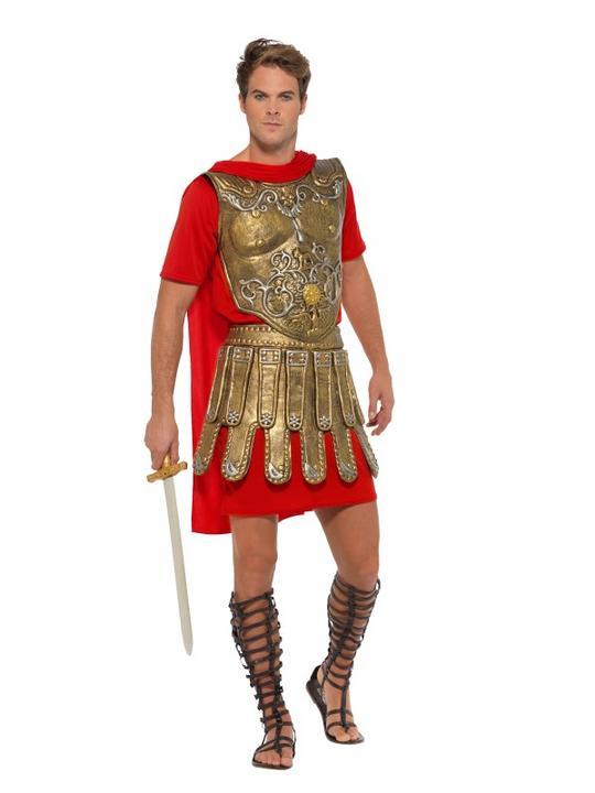 Roman Gladiator Men's Fancy Dress Costume Thumbnail 2