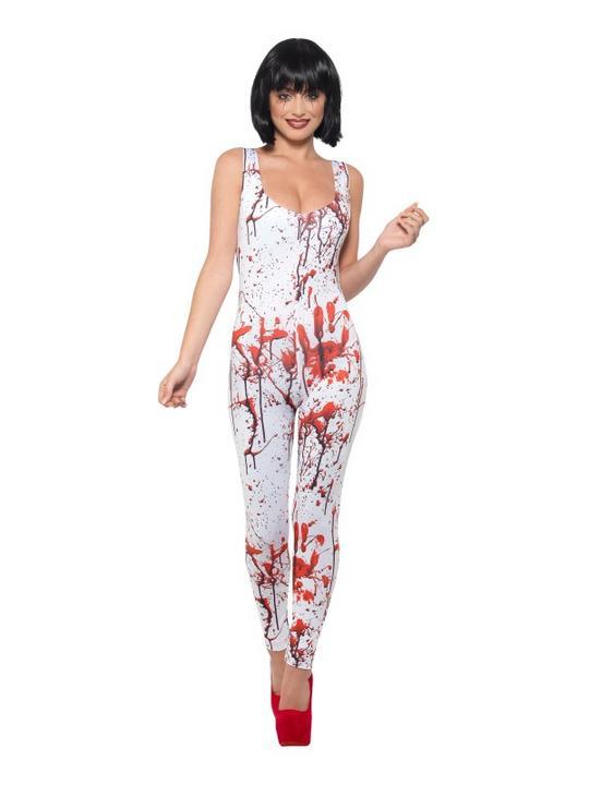 Blood Splatter Women's Fancy Dress Costume Thumbnail 1