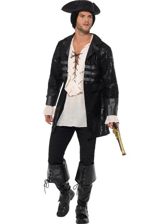 Buccaneer Pirate Jacket Men's Fancy Dress Thumbnail 1