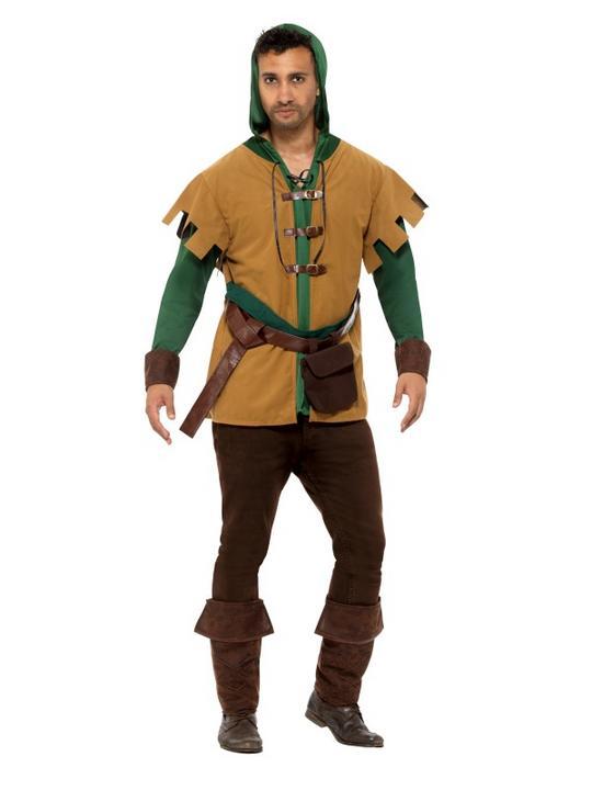 Robin Of The Hood Men's Fancy Dress Costume Thumbnail 1