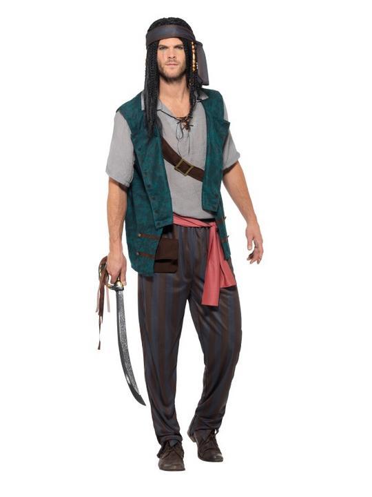 Pirate Deckhand  Men's Fancy Dress Costume Thumbnail 1