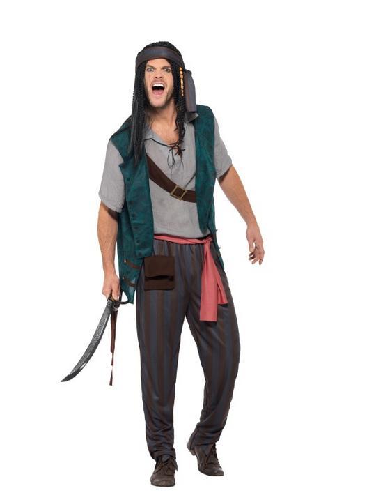 Pirate Deckhand  Men's Fancy Dress Costume Thumbnail 2