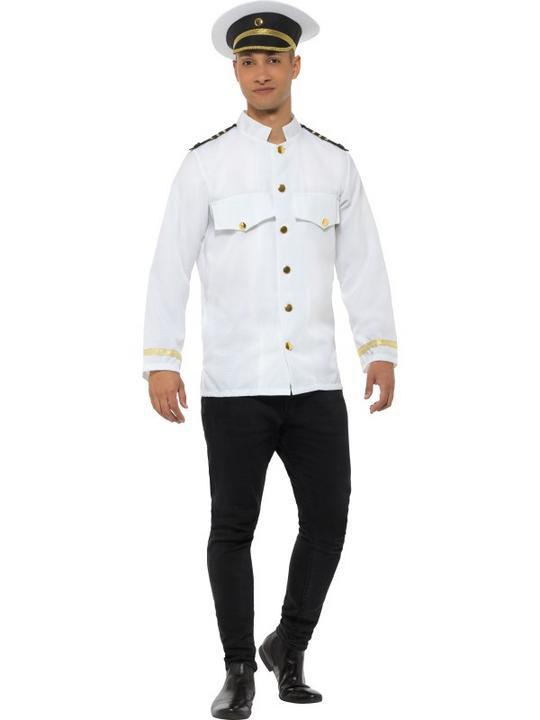 Captain Jacket Men's Fancy Dress Thumbnail 1