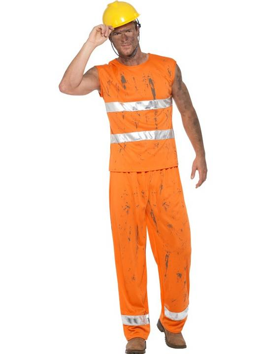 Miner Men's Fancy Dress Costume Thumbnail 1