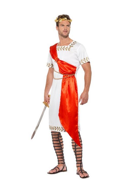 Roman Senator Men's Fancy Dress Costume Thumbnail 1