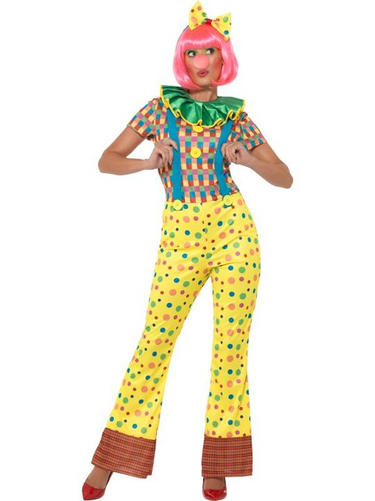 Giggles The Clown Lady Women's Fancy Dress Costume Thumbnail 1