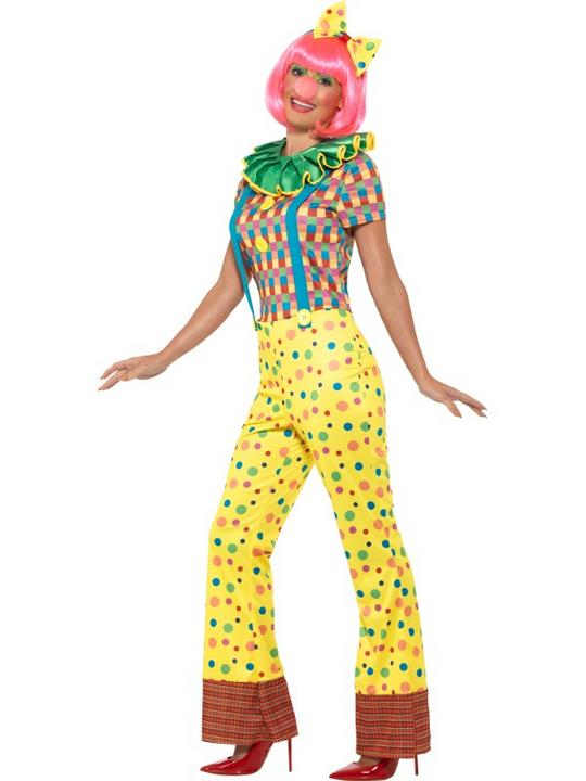 Giggles The Clown Lady Women's Fancy Dress Costume Thumbnail 2