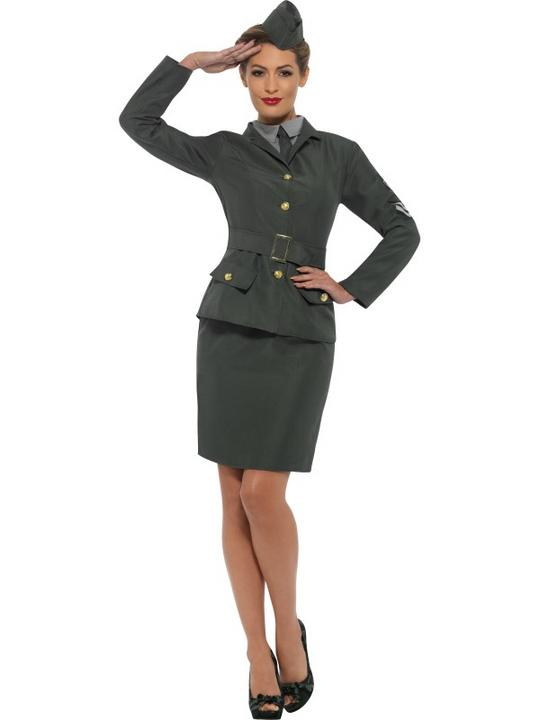 WW2 Army Women's Fancy Dress Costume Thumbnail 1