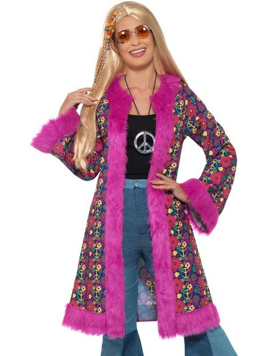 60s Psychedelic Hippie Coat Fancy Dress Thumbnail 1