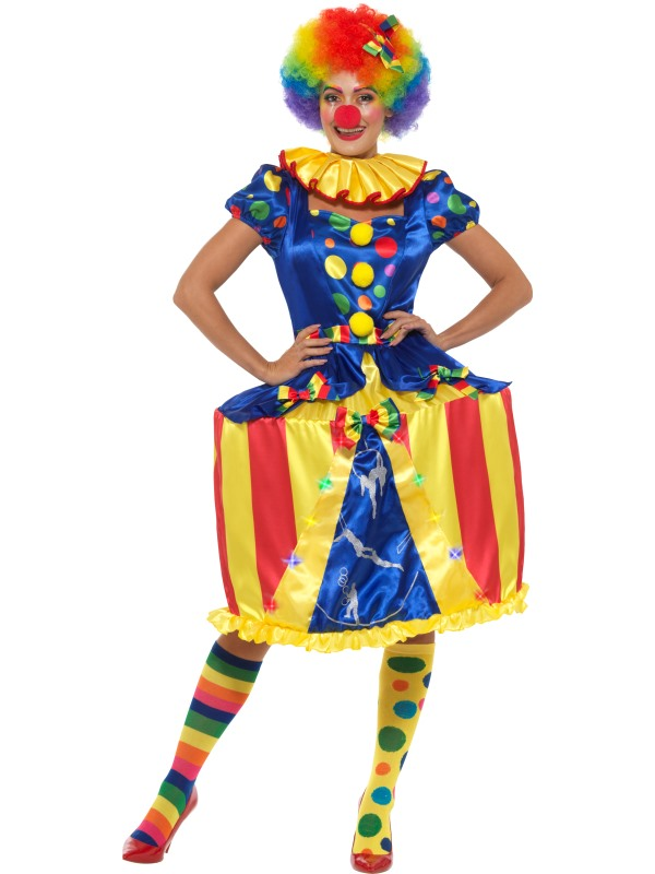 Clown Lady Womens Costume Circus Ladies Fancy Dress Outfit Dressup Ringmaster