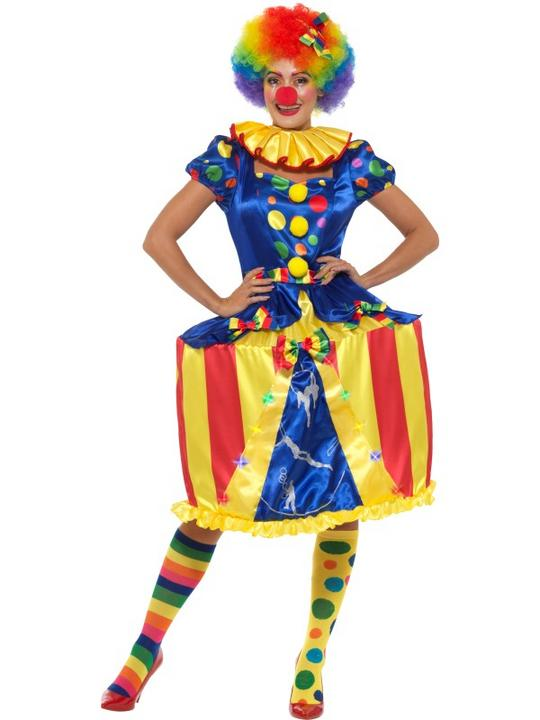 Clown Lady Womens Costume Circus Ladies Fancy Dress Outfit Dressup Ringmaster Thumbnail 1