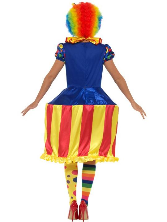 Clown Lady Womens Costume Circus Ladies Fancy Dress Outfit Dressup Ringmaster Thumbnail 3