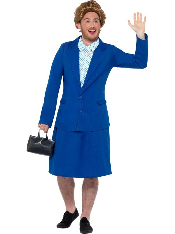 Iron Lady Prime Minister Men's Fancy Dress Costume