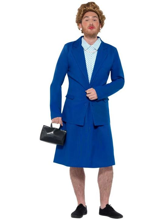 Iron Lady Prime Minister Men's Fancy Dress Costume Thumbnail 2
