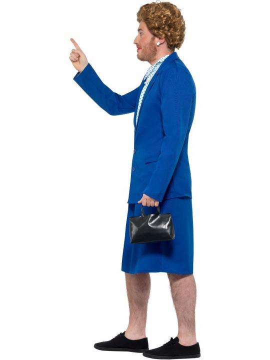 Iron Lady Prime Minister Men's Fancy Dress Costume Thumbnail 4