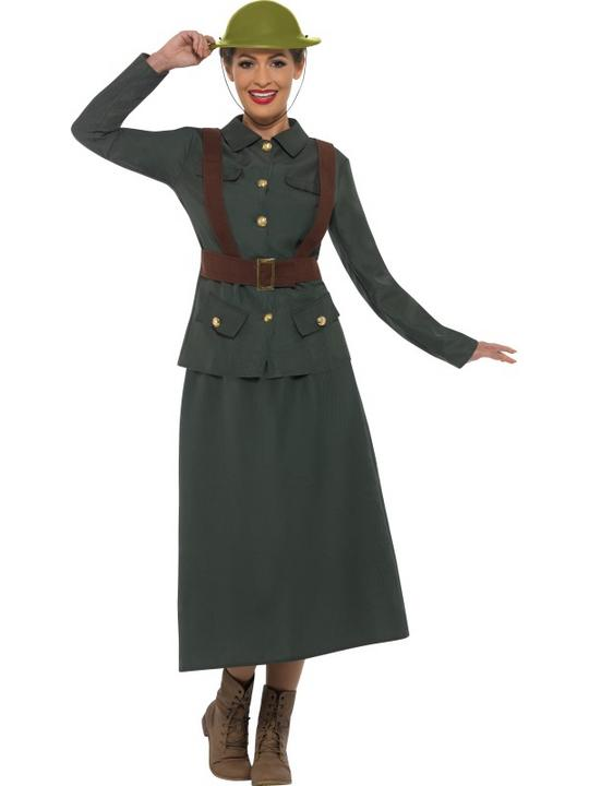 WW2 Army Warden Lady Costume Thumbnail 1