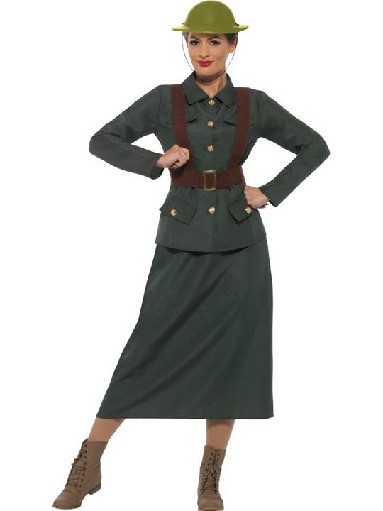 WW2 Army Warden Lady Costume Thumbnail 2