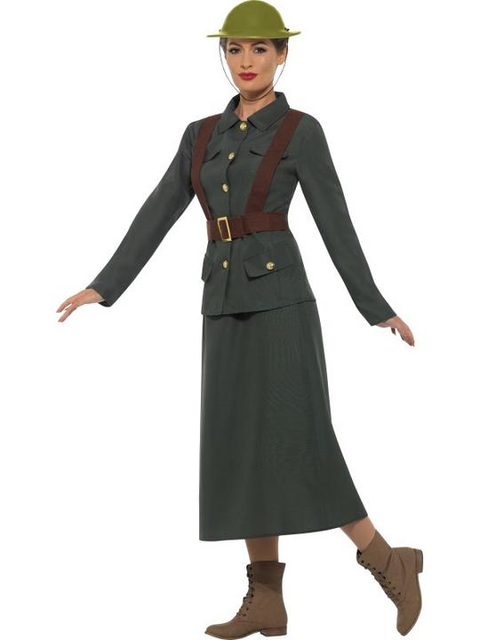 WW2 Army Warden Lady Costume Thumbnail 4