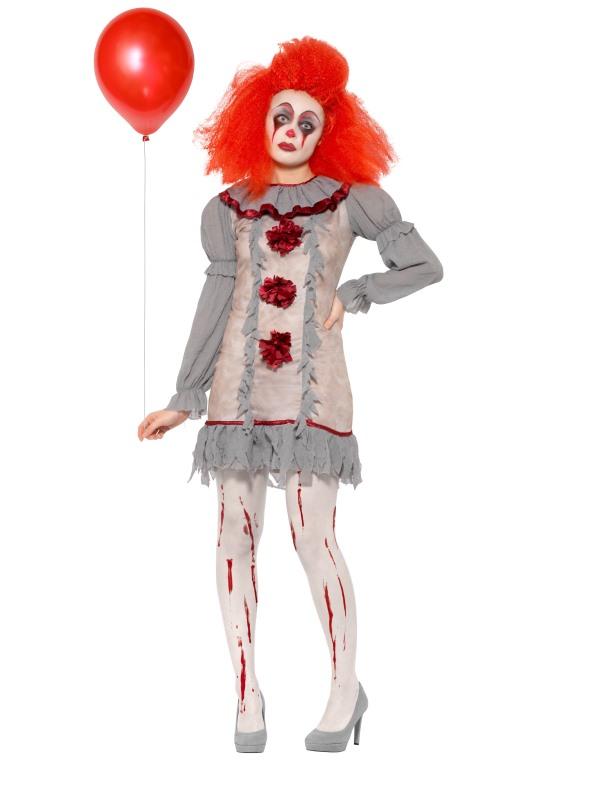 Vintage Clown Women's Fancy Dress Costume