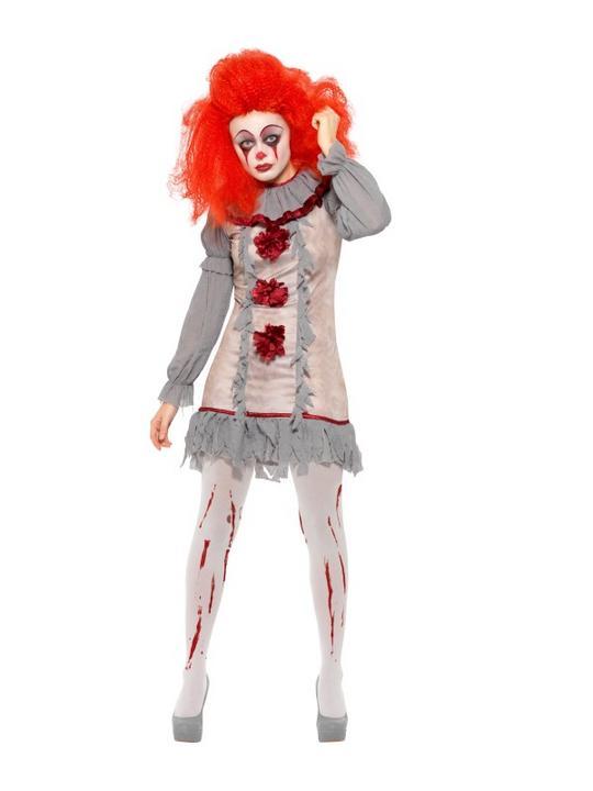 Vintage Clown Women's Fancy Dress Costume Thumbnail 2