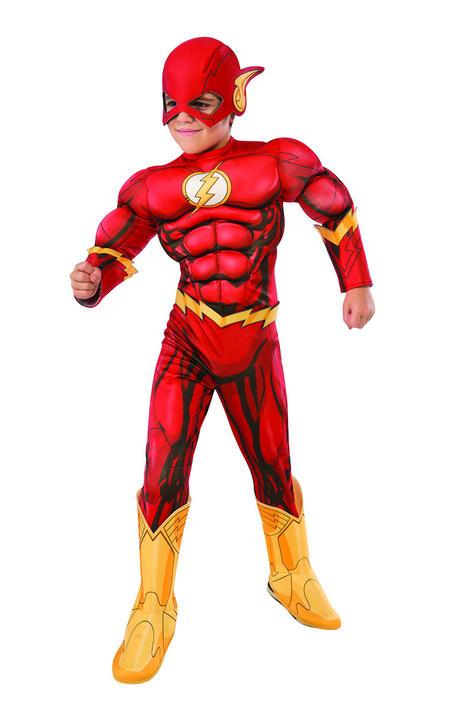 Flash Deluxe Boy's Fancy Dress Costume Thumbnail 1