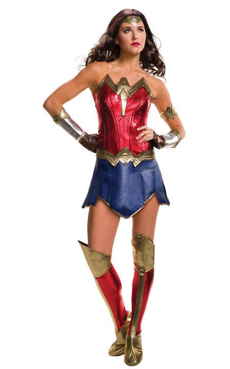 Wonder Woman Womens Costume DC comics Marvel Superhero Fancy Dress outfit Thumbnail 1